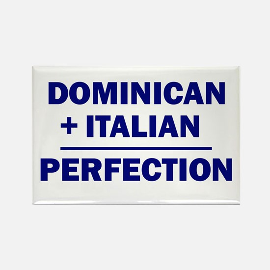 50% Italian + 50% Dominican Rectangle Magnet