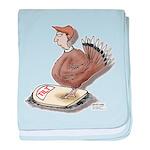 Thanksgiving Turkey Scale baby blanket
