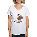 Thanksgiving Turkey Scale Women's V-Neck T-Shirt