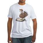 Thanksgiving Turkey Scale Fitted T-Shirt