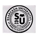 Sarcasm University (S) Throw Blanket
