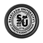Sarcasm University (S) Large Wall Clock