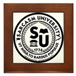 Sarcasm University (S) Framed Tile