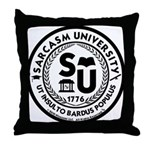 Sarcasm University (S) Throw Pillow