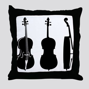 Cellos Throw Pillow