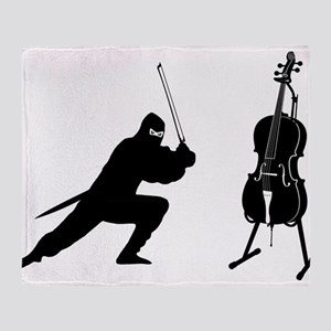 Cello Ninja Throw Blanket
