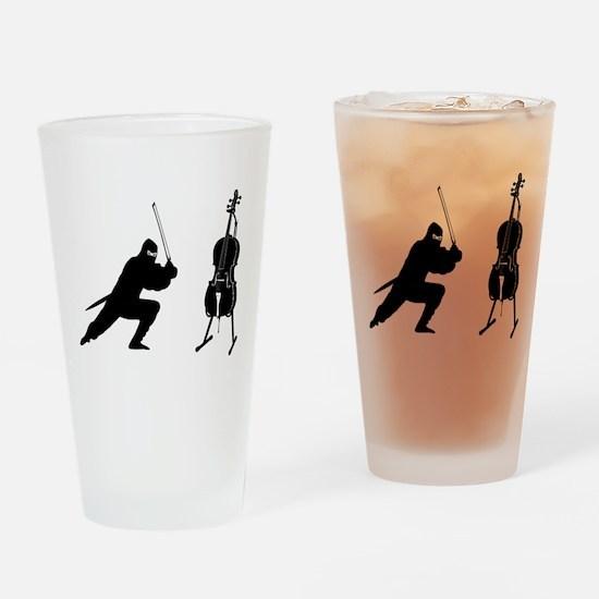 Cello Ninja Drinking Glass