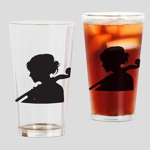 Cellist Drinking Glass