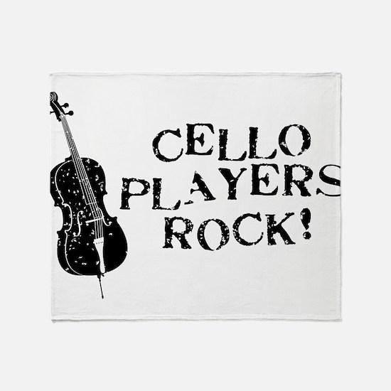 Cello Players Rock Throw Blanket