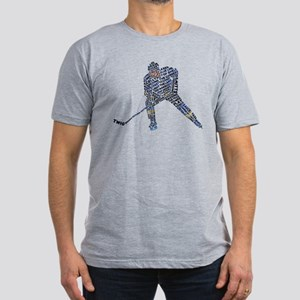 Hockey Player Typography Men's Fitted T-Shirt (dar