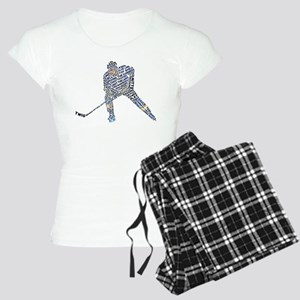 Hockey Player Typography Women's Light Pajamas