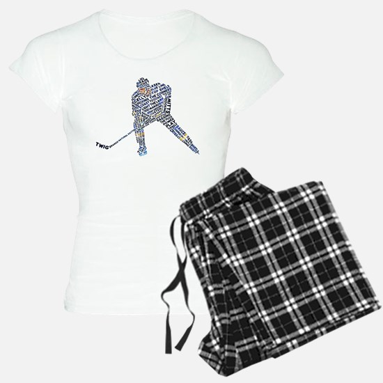 Hockey Player Typography Pajamas