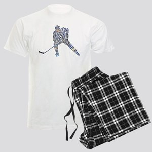 Hockey Player Typography Men's Light Pajamas