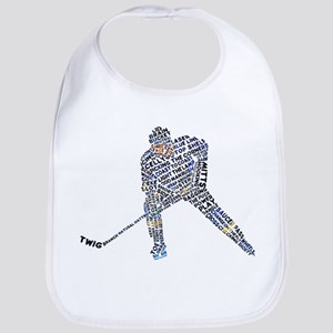 Hockey Player Typography Bib