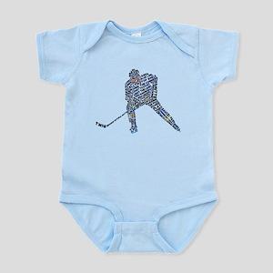 Hockey Player Typography Infant Bodysuit