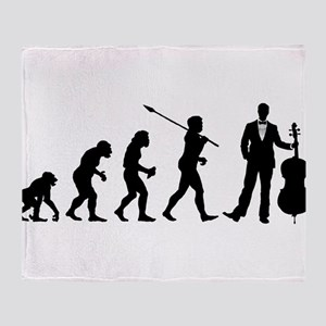 Cellist Evolution Throw Blanket