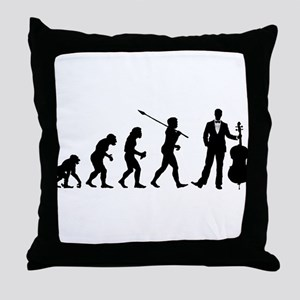 Cellist Evolution Throw Pillow