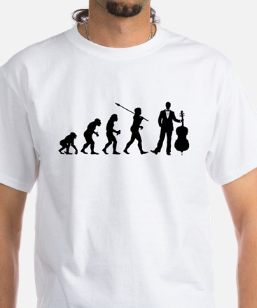 Cellist Evolution White T-Shirt