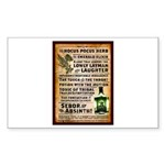 Absinthe Vintage Liquor  Sticker (Rectangle 50 pk)