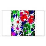 Colorful Flower Abstract Sticker (Rectangle 50 pk)