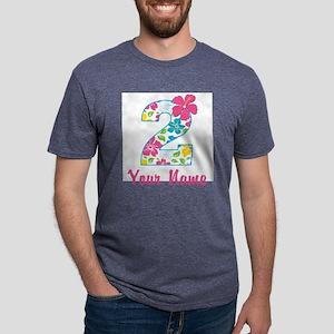 2nd Birthday Tropical Mens Tri-blend T-Shirt