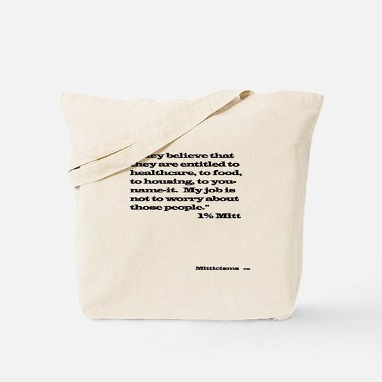 1% Mitt Shirt Light Tote Bag