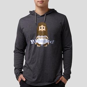 jesusandtripletsblue Mens Hooded Shirt