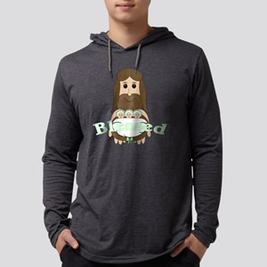 jesusandtripletsgreen Mens Hooded Shirt
