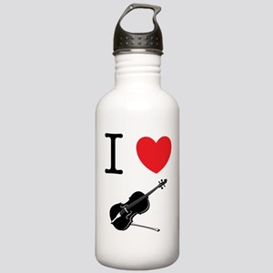 I Heart Cello Stainless Water Bottle 1.0L