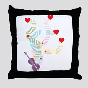 Lovely Cello Throw Pillow