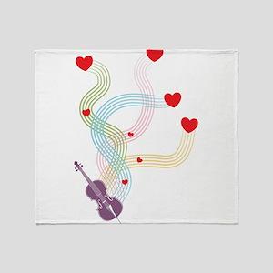 Lovely Cello Throw Blanket