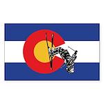 A Snow Skier doing a fli Sticker (Rectangle 50 pk)
