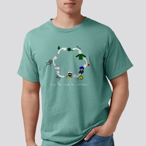 Circle black with words. Mens Comfort Colors Shirt