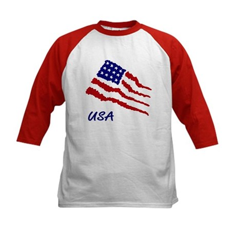 Kids Patriotic Baseball Tee