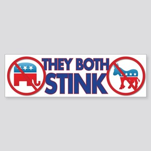 They both stink Sticker (Bumper)