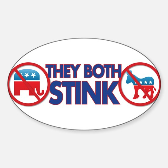They both stink Sticker (Oval)