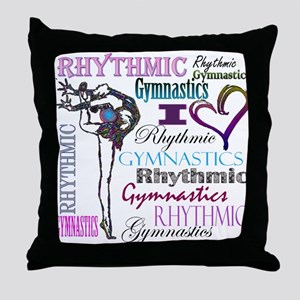 I Heart Rhythmic Gymnastics Throw Pillow