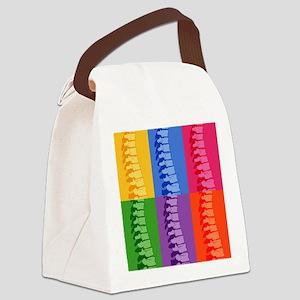 Spine Pop Art Canvas Lunch Bag