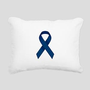 Blue Ribbon Rectangular Canvas Pillow