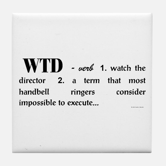 Watch the Director Tile Coaster