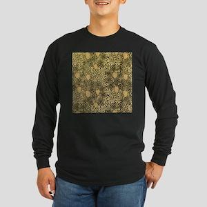 William Morris Pattern Long Sleeve Dark T-Shirt