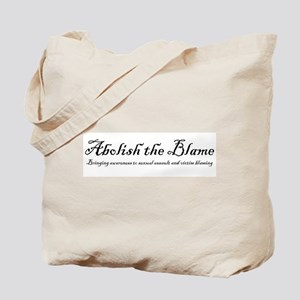 SlutWalk Richmond's motto - Abolish the Blame Tote