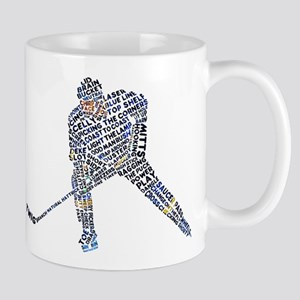 Hockey Player Typography Mug
