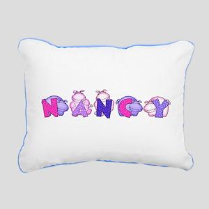 Nancy in Hippos Rectangular Canvas Pillow