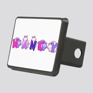 Nancy in Hippos Rectangular Hitch Cover