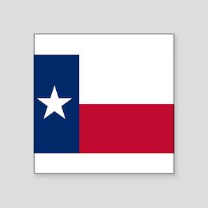 "Texas flag Square Sticker 3"" x 3"""
