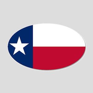 Texas flag 20x12 Oval Wall Decal