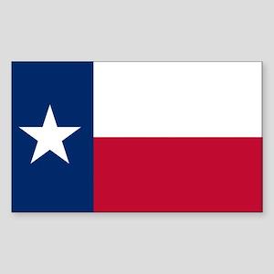Texas flag Sticker (Rectangle 10 pk)