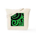 Green Twirl Tote Bag