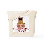 embarrassed Peanut Tote Bag